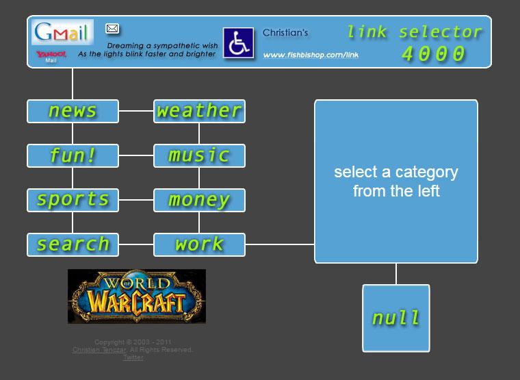 A link selector